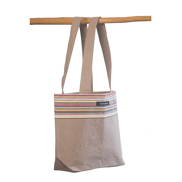 grande photo 2 Small beach bag Taupe