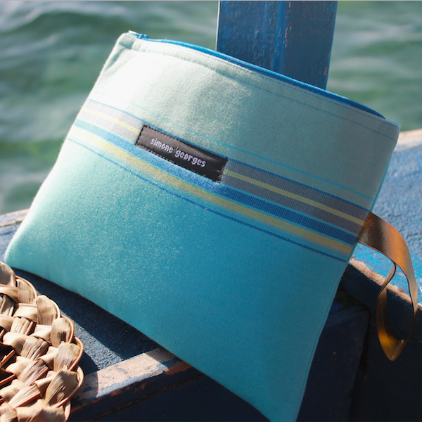 grande photo Beach pouch Blue Lagoon