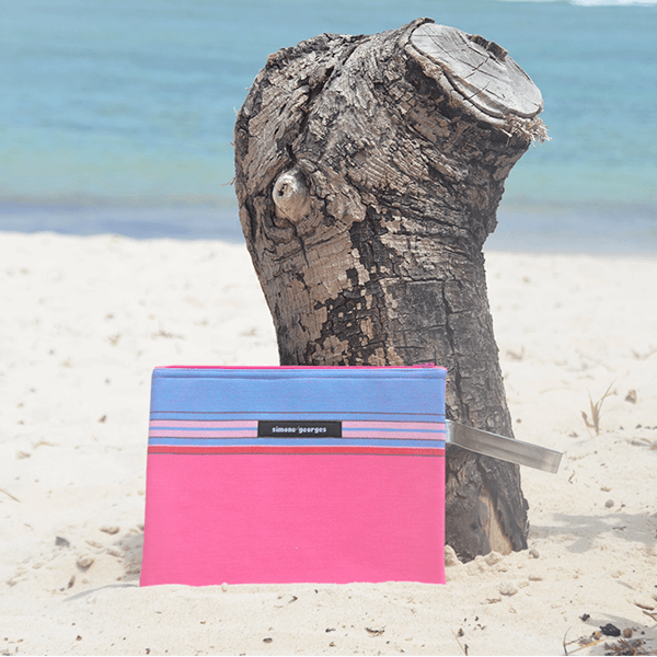 grande photo Beach pouch Hibiscus