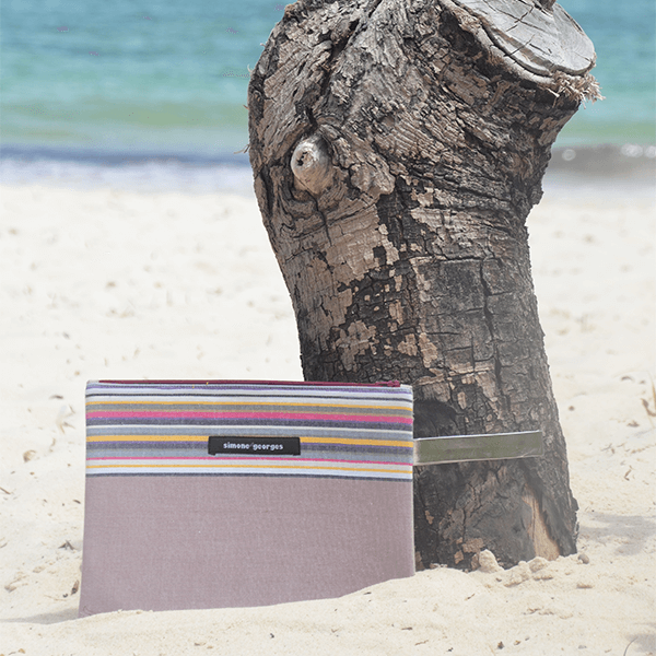 grande photo Beach pouch Taupe
