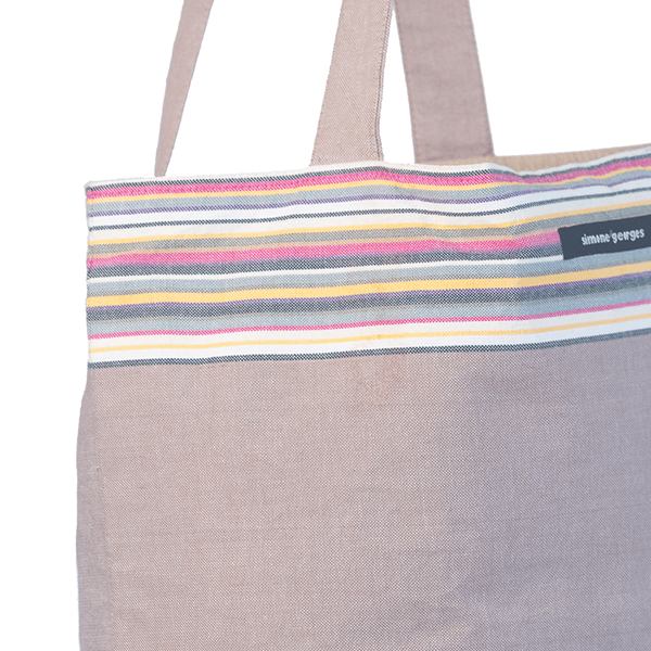 grande photo 2 Beach bag Taupe